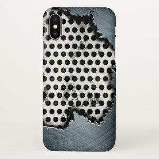 ripped steel metal art iPhone x case