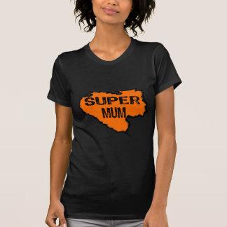Ripped Super Mum- Black Text/ Orange Tees