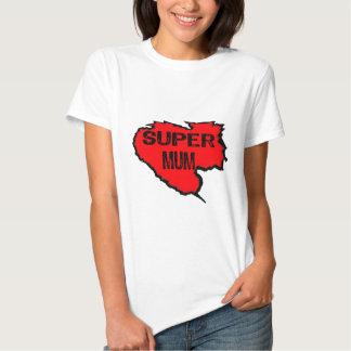 Ripped Super Mum- Black Text/ Red Tshirts