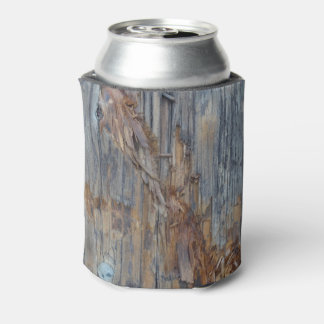 Ripped Wood Texture Can Cooler or Beer Sleeve