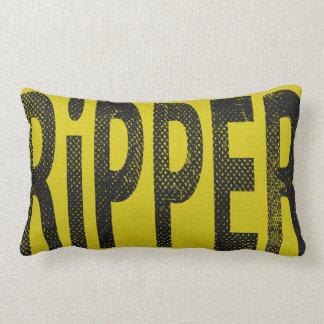 Ripper Skateboard  Word Art Pillow Gold Grey Throw Cushions