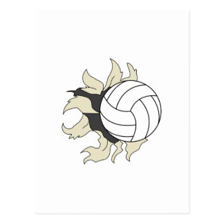 RIPPING VOLLEYBALL POSTCARD