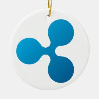 Ripple Circle Hanging Ornament