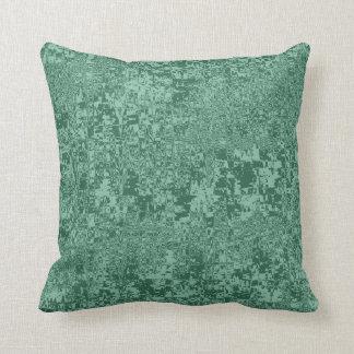 rippled abstract pattern green tint cushion