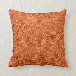 rippled abstract pattern orange tint cushion