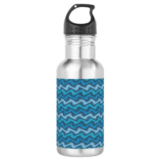 Rippled Blue 532 Ml Water Bottle