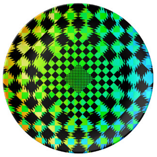 Rippled Checkers by Kenneth Yoncich Porcelain Plate