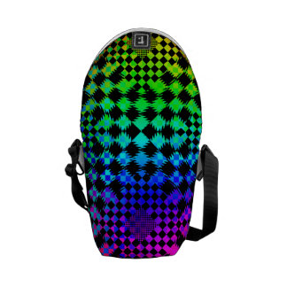 Rippled Checkers Courier Bags