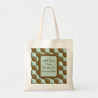 Rippled Diamonds - Chocolate Mint Budget Tote Bag