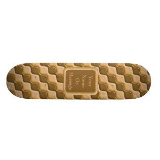 Rippled Diamonds - Chocolate Peanut Butter 21.3 Cm Mini Skateboard Deck