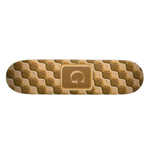 Rippled Diamonds - Chocolate Peanut Butter Skate Boards