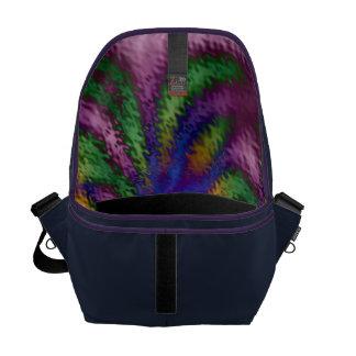 Rippled Flower Messenger Bag