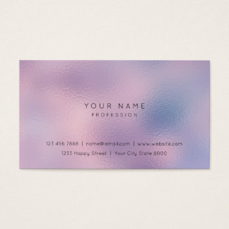 Rippled Glass Lilac Purple Pink Ombre Stylist Vip Business Card