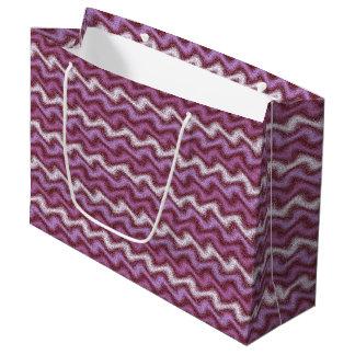 Rippled Purple Large Gift Bag