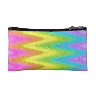 """Rippled Rainbow"" Makeup Bag"