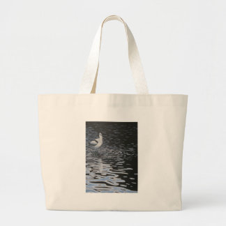 Ripples and a Avocet in contrast Canvas Bags