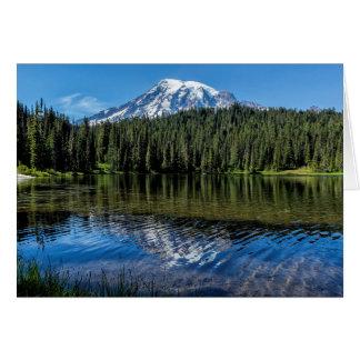 Ripples and Reflection Mt Rainier Card