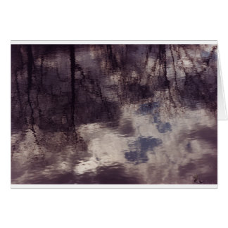 Ripples and Reflections in a Massachusetts Pond Greeting Card