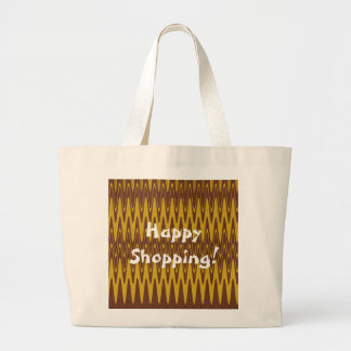 Ripples- Brown Yellow Canvas Bag