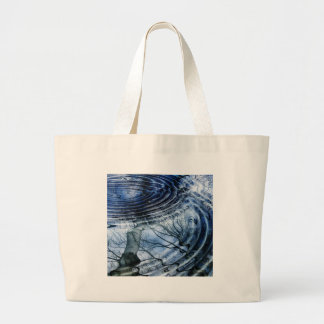 Ripples in Blue Tote Bags