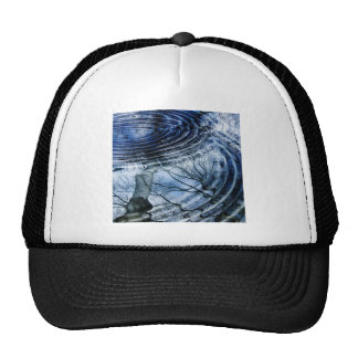 Ripples in Blue Mesh Hat