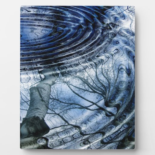Ripples in Blue Display Plaques