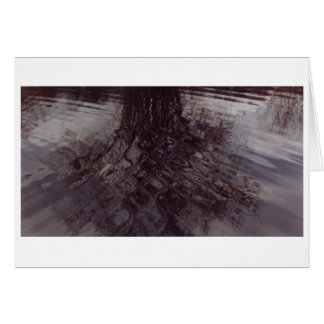 Ripples intersecting in a pond greeting card