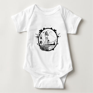 Ripples & NIbbles fishing outfitter logo Baby Bodysuit