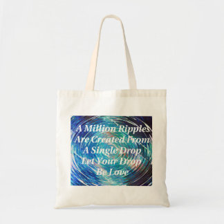 Ripples Of Love (Blue) Tote Canvas Bags