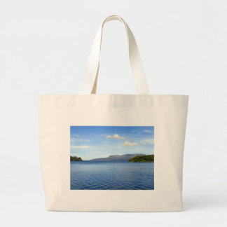 Ripples on Lake Tikitapu (Blue Lake), New Zealand Canvas Bags