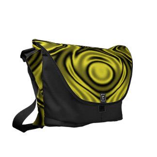 Ripples Yellow Messenger Bags