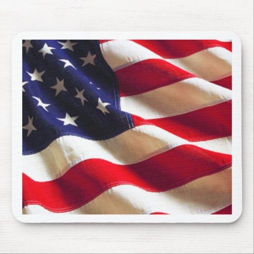 Rippling American Flag Mousepad