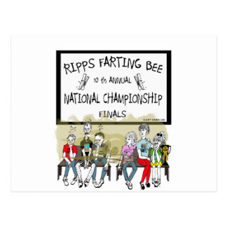 Ripps Farting Bee Postcard