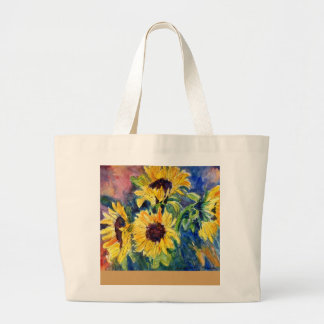 Ri's Sunflowers Large Tote Bag