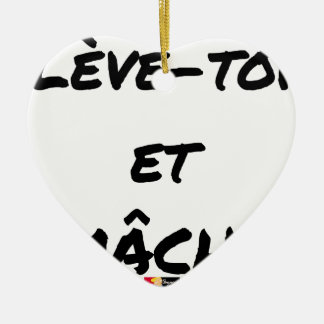 RISE AND CHEWS - Word games - François Ville Ceramic Ornament