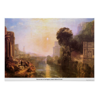Rise and fall of Carthage by Joseph Mallord Turner Poster