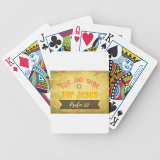 Rise and Shine for Jesus Bicycle Playing Cards