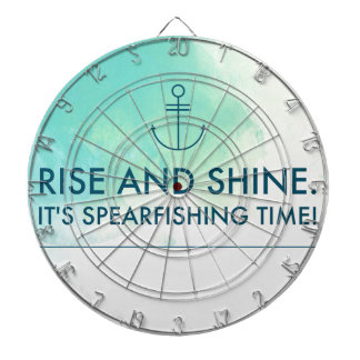 Rise and Shine It's Spearfishing Time Dartboard