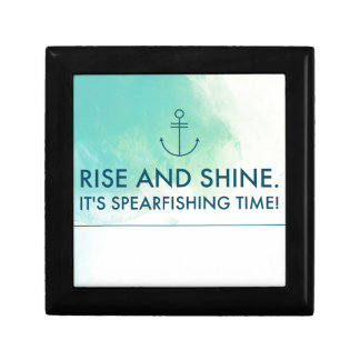 Rise and Shine It's Spearfishing Time Gift Box
