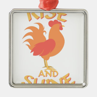 Rise And Shine Metal Ornament