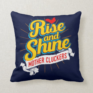 Rise and Shine Mother Cluckers Rooster Country Cushion
