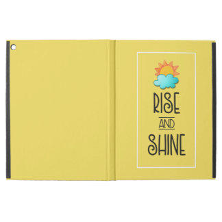Rise and Shine Typography With Sun and Cloud