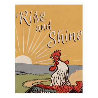 Rise and shine - Vintage Look Postcard