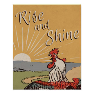 Rise and shine - Vintage Look Poster