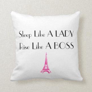 Rise Like A Boss Throw Pillow