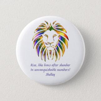 Rise Like Lions Design 3 6 Cm Round Badge