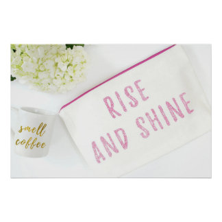 Rise n Shine White Jasmine with Mug Poster
