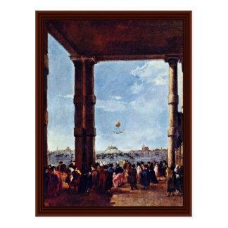 Rise Of A Balloon By Guardi Francesco Postcard