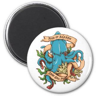 Rise of Kraken Monster Octopus 6 Cm Round Magnet