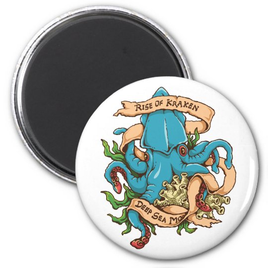 Rise of Kraken Monster Octopus Magnet